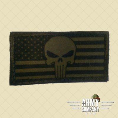 Patch vlag USA Punisher - OD Green