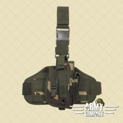 Tactical MOLLE pistool holster MFH - Woodland