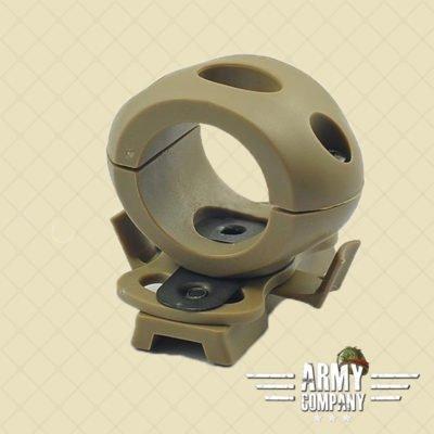 """1,2"""" / 30 mm Flashlight helmet mount – Dark earth"""