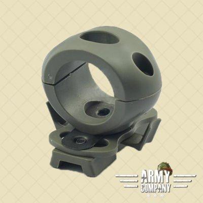 "1,2"" / 30 mm Flashlight helmet mount – Foliage green"